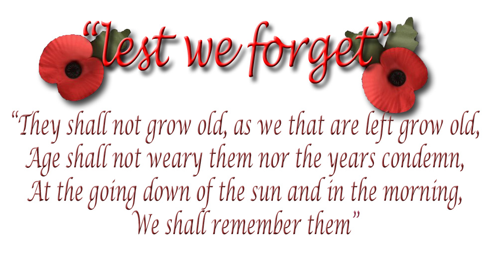 remembrance day lest we forget